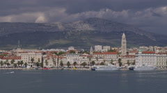 Arrival to Split by boat - stock footage