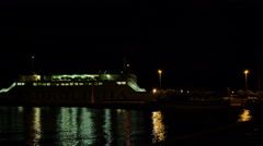 Supetar, ferry arriving Stock Footage