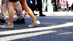 People walking on the street Stock Footage