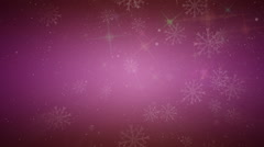 wonderful christmas animation with stars, lights, snowflakes, loop hd 1080p - stock footage