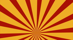 Retro Abstract Sunburst Background Loop Red Yellow Low - stock footage