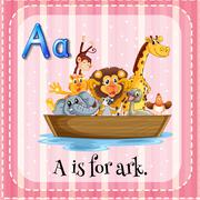 A letter A for ark Stock Illustration