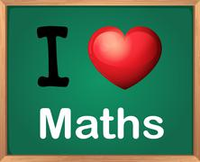 I love Math Piirros