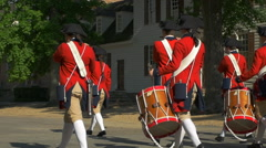 Colonial Marching Band Slow Motion Stock Footage