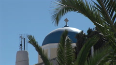 Catholic Cathedral, Santorini Greece. Not graded. Stock Footage