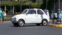 Early Fiat 500 driving. Not graded Stock Footage