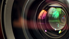 Lens of Camera Stock Footage