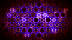 Colored Hexagons Background 2 Stock Footage