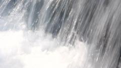Powerful waterfall splashing. Closeup. Stock Footage