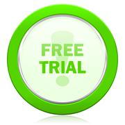 free trial icon . - stock illustration
