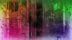 Fantastic animation with changing colors on grunge background, loop hd 1080p Stock Footage