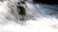 Wide angle shot of Rio del Verde waterfall with shadows, Abruzzi, Italy. Stock Footage
