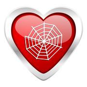 spider web valentine icon . - stock illustration