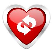 Stock Illustration of rotation valentine icon refresh sign.