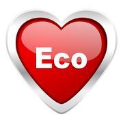 Eco valentine icon ecological sign. Stock Illustration