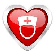 nurse valentine icon hospital sign. - stock illustration