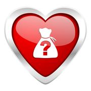 riddle valentine icon . - stock illustration