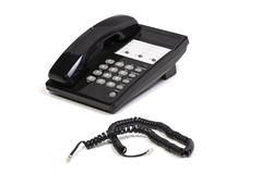 telephone and cord - stock photo