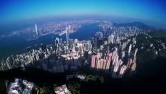 4K Aerial Wide Shot of Hong Kong of China. Stock Footage