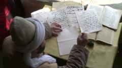 Writing Arabic Dervish Writing Arabic Stock Footage