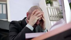 Stress at Workplace Stock Footage