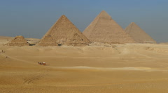 Great pyramids at Giza Cairo in Egypt Stock Footage