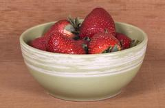 strawberry on the bowl - stock photo