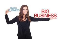 Business comparison Stock Photos