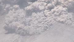 Amazing Pyroclastic Flow Volcanic Eruption Slow Pan Stock Footage