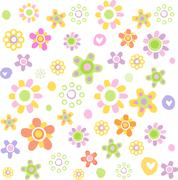 Cute floral ornament Stock Illustration