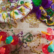 Stock Photo of mardi gras: fun fat tuesday party items