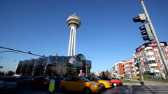 Capital of Turkey's Symbol Ankara Atakule. Stock Footage