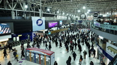 Waterloo station London at rush hour Stock Footage