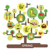 Spring Season Concept Stock Illustration