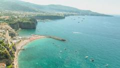 Panoramic Landscape View Beauty Nature Ocean Sea Mountain Tropical Vacation Stock Footage