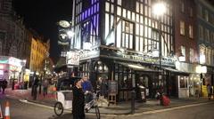 Original London English pub The Three Greyhounds Stock Footage
