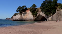 Cathedral Cove New Zealand Stock Footage