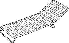 Outline of deck chair Stock Illustration
