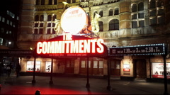 London Soho Theatre district musical theater playing The Commitments Stock Footage