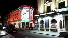 London Soho theater district theater playing Stomp - stock footage