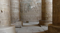 Interior of  Ancient Egyptian Dendera Temple Stock Footage