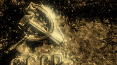 Soviet gold golden metal Stock Footage