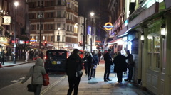 London Street view in Soho theater and entertainment district - stock footage