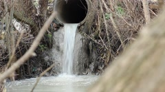 Waste Discharge River Pipe Stock Footage