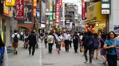 Time Lapse of Busy Shibuya Shopping District Daytime  - Tokyo Japan Stock Footage