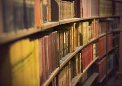 store with antique books - stock photo