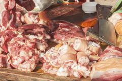 Meat market Stock Photos