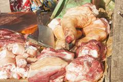 meat at a market - stock photo