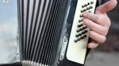 Accordion Instrument Body Stock Footage