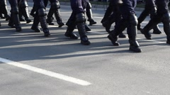 Armored Police Force Stock Footage